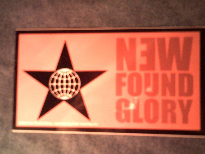 NEW FOUND GLORY STICKER globe/star logo SALE