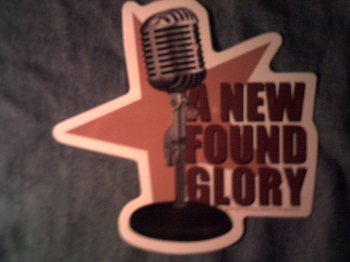NEW FOUND GLORY STICKER mike logo