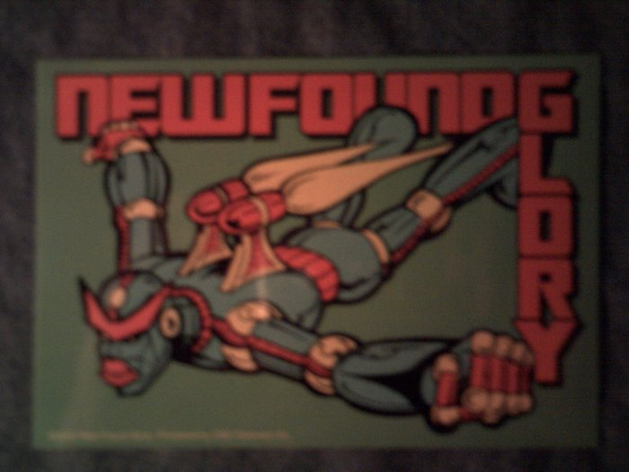 NEW FOUND GLORY STICKER flying robot SALE