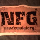 NEW FOUND GLORY STICKER safety pin/patch logo SALE