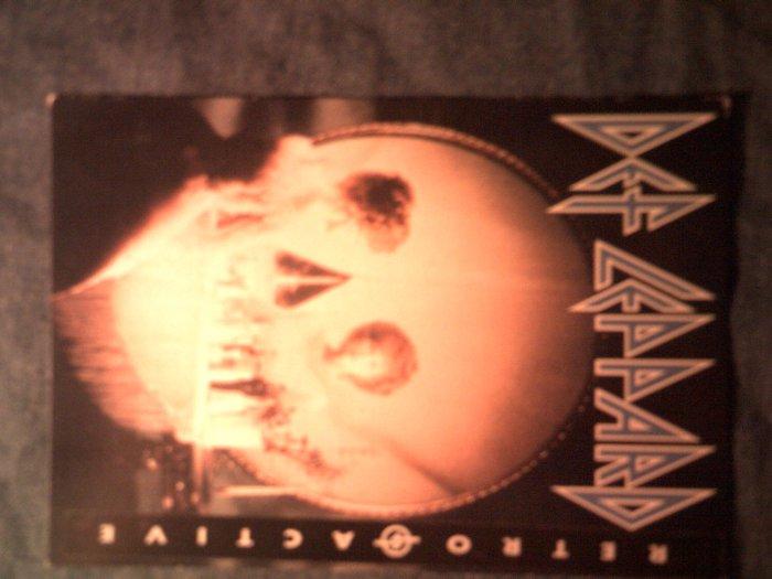 DEF LEPPARD POSTCARD Retroactive album art IMPORT