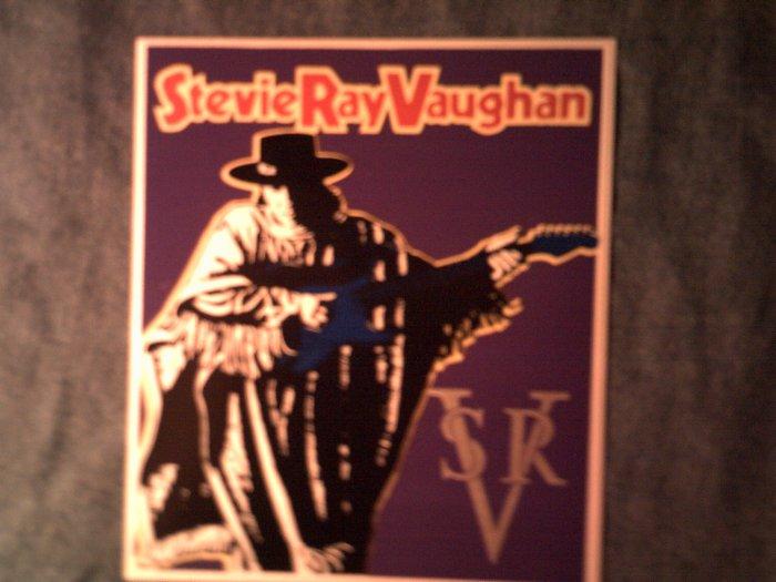 STEVIE RAY VAUGHAN STICKER poncho guitar art srv NEW!
