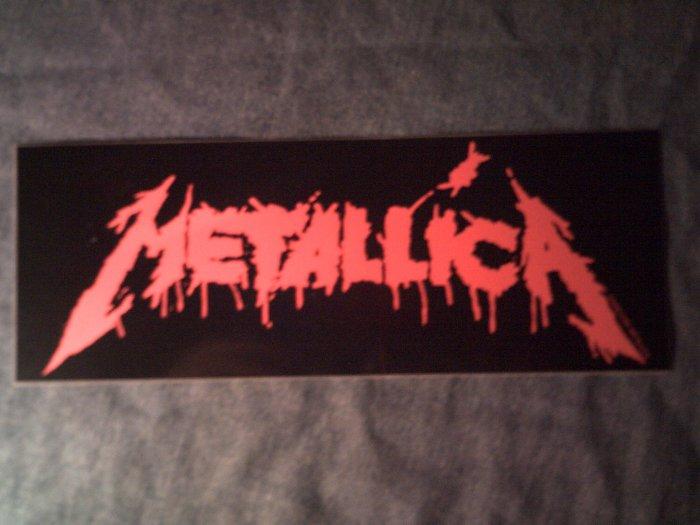 METALLICA STICKER red bloody logo BIG!