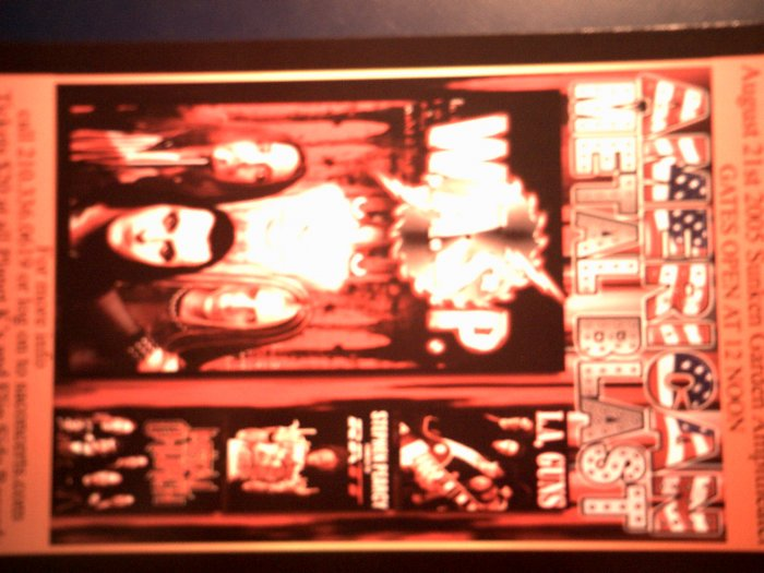 CONCERT FLYER W.A.S.P. Metal Church LA Guns RATT wasp texas