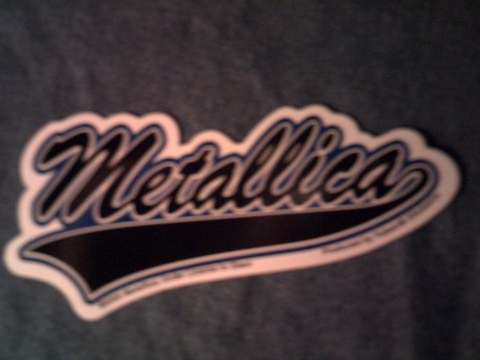 METALLICA STICKER baseball logo NEW!