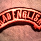 BAD ENGLISH iron-on PATCH logo VINTAGE 80s