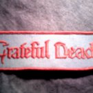 GRATEFUL DEAD iron-on PATCH red/blue logo VINTAGE