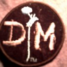 DEPECHE MODE iron-on PATCH round dm logo VINTAGE 80s