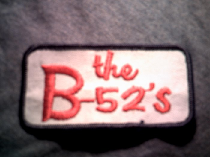 B-52'S iron-on PATCH square logo b52s VINTAGE 80s