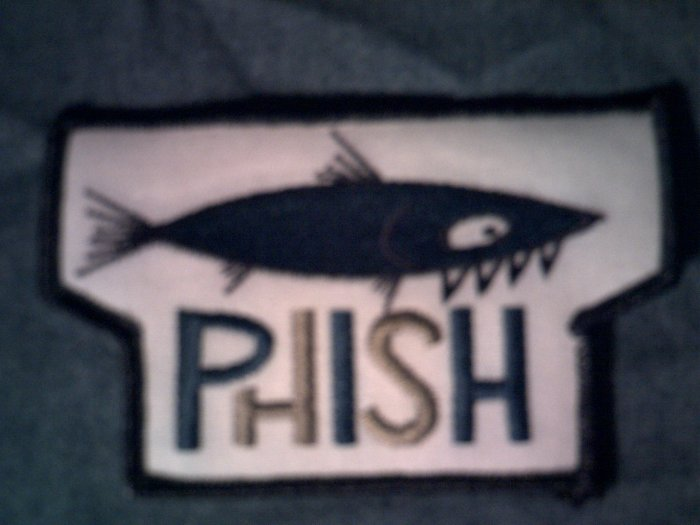 PHISH iron-on PATCH barracuda logo