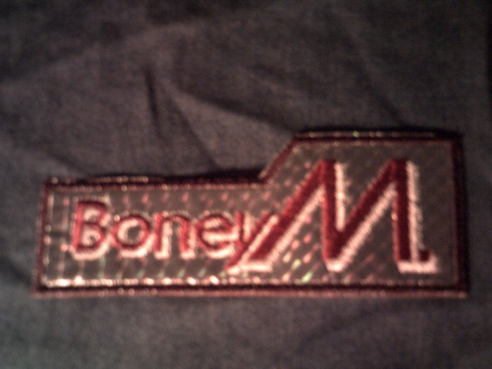 BONEY M iron-on PATCH prism logo VINTAGE 70s!
