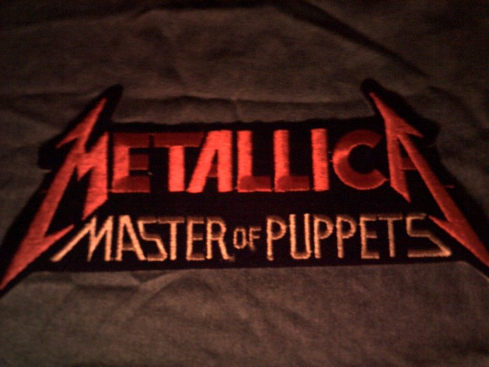 METALLICA iron-on PATCH Master of Puppets red VINTAGE JUMBO!