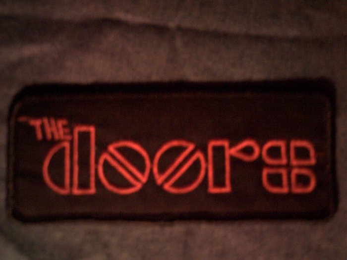THE DOORS iron-on PATCH red logo VINTAGE 80s
