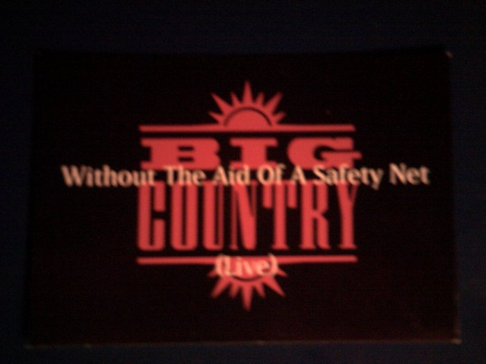 BIG COUNTRY POSTCARD Without the Aid of Safety Net IMPORT