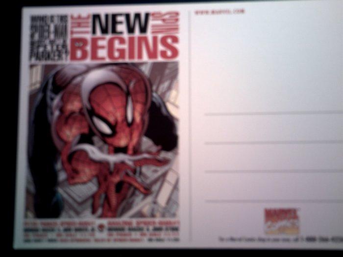 SPIDER-MAN POSTCARD New Spin Begins spiderman PROMO