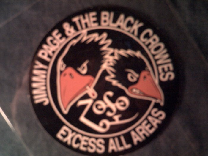 JIMMY PAGE & THE BLACK CROWES STICKER zoso led zeppelin