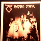 TWISTED SISTER STICKER color band pic dee snider VINTAGE