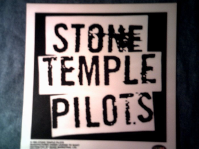 STONE TEMPLE PILOTS DECAL not STICKER B&W logo stp VINTAGE