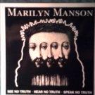 MARILYN MANSON STICKER see hear speak no truth