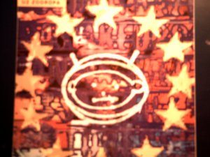 U2 STICKER Zooropa album art bono