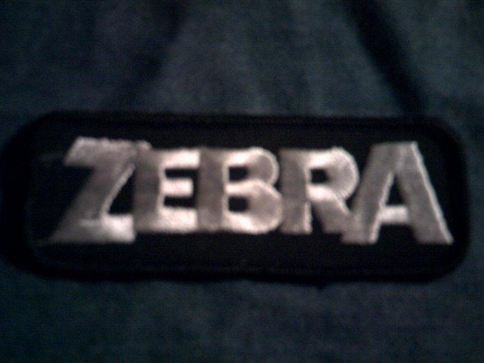 ZEBRA iron-on PATCH logo randy jackson VINTAGE 80s