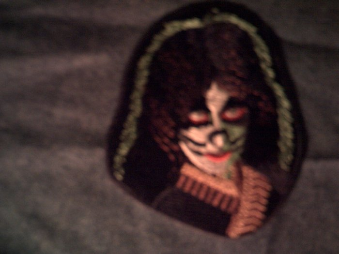 KISS iron-on PATCH Peter Criss cat face NEW!