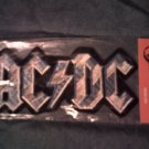 AC/DC iron-on PATCH silver logo acdc VINTAGE JUMBO!
