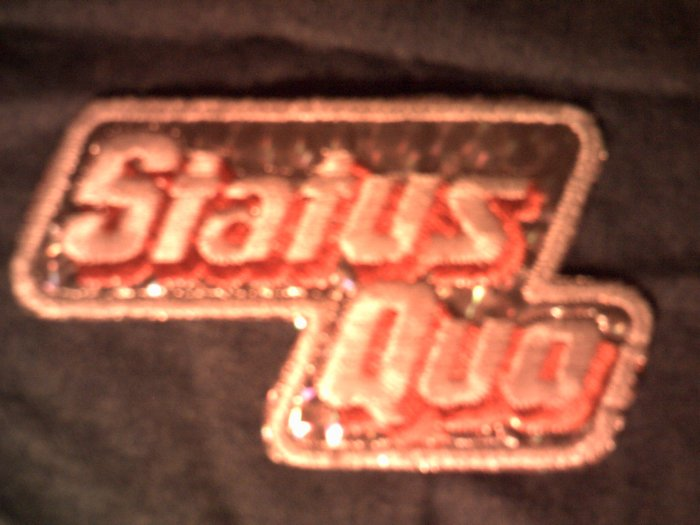 STATUS QUO iron-on PATCH prism logo VINTAGE 70s!