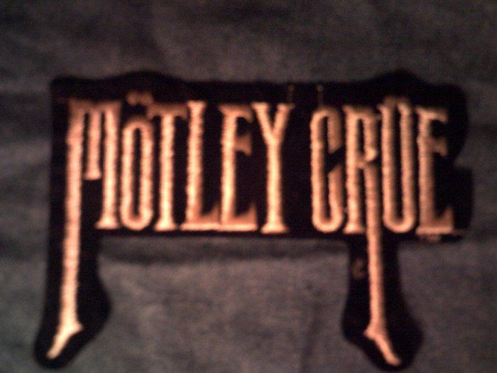 MOTLEY CRUE iron-on PATCH tall logo VINTAGE