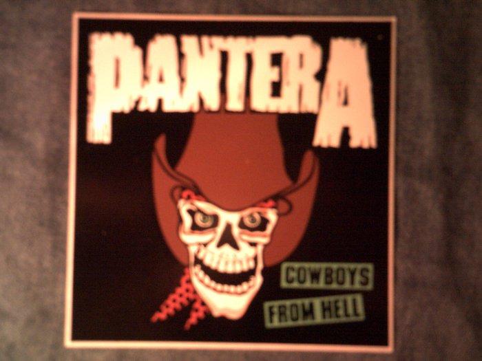 PANTERA STICKER Cowboys From Hell skull VINTAGE