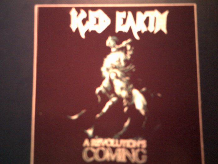 ICED EARTH STICKER A Revolution's Coming SCARCE