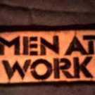 MEN AT WORK iron-on PATCH square logo VINTAGE 80s