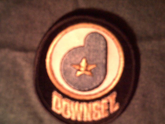 DOWNSET iron-on PATCH la star logo punk