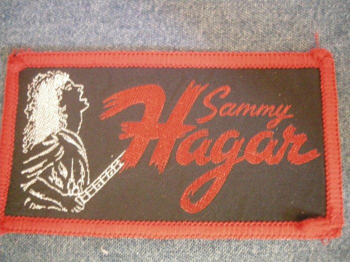 SAMMY HAGAR sew-on PATCH with guitar VINTAGE