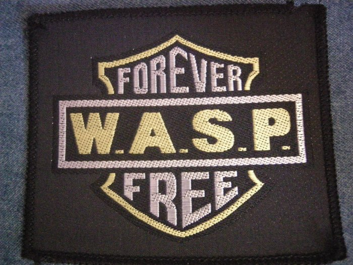 W.A.S.P. sew-on PATCH Forever Free wasp VINTAGE