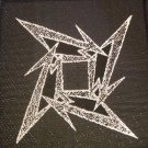 METALLICA sew-on PATCH silver ninja star logo HTF