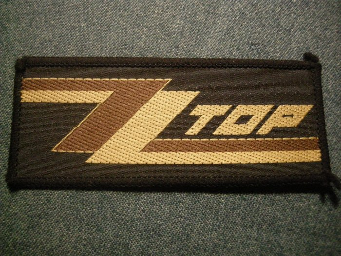 ZZ TOP sew-on PATCH zztop logo VINTAGE