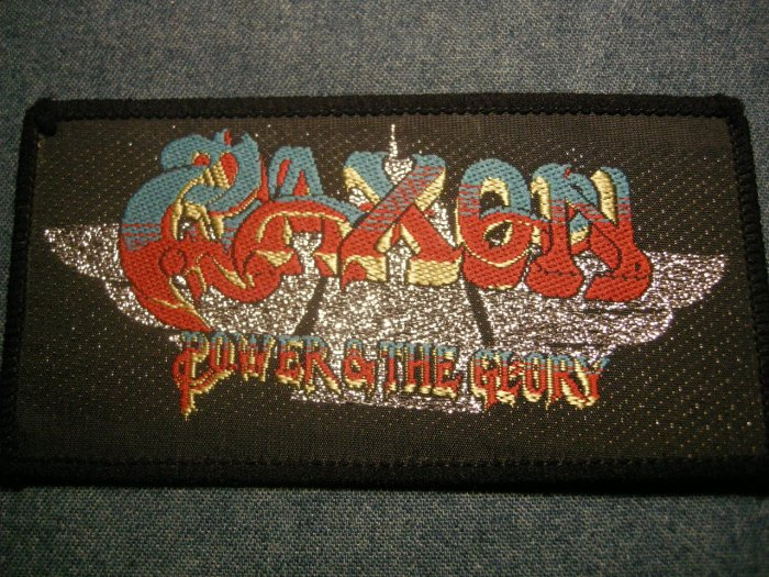 SAXON sew-on PATCH Power & the Glory VINTAGE