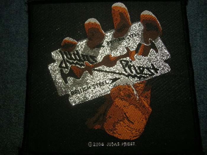 JUDAS PRIEST sew-on PATCH British Steel HTF