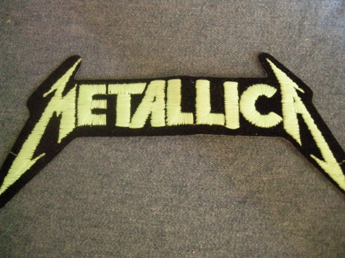 METALLICA iron-on PATCH green classic logo VINTAGE