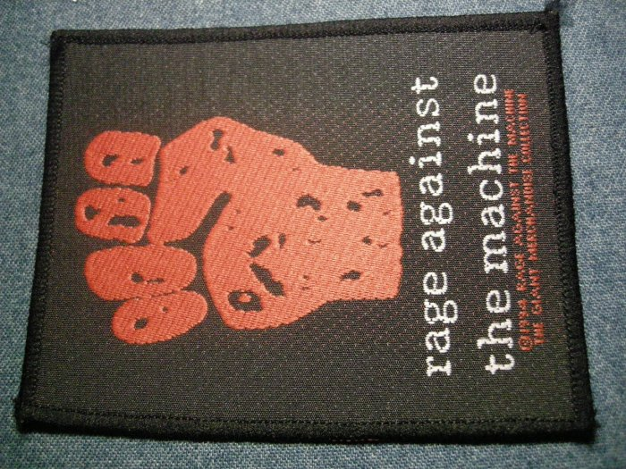 RAGE AGAINST THE MACHINE sew-on PATCH red fist logo ratm IMPORT