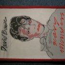 DAVID BOWIE sew-on PATCH Scary Monsters VINTAGE