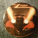 ZZ TOP PINBACK BUTTON Eliminator car zztop VINTAGE