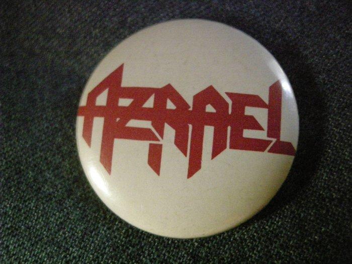 AZRAEL PINBACK BUTTON red logo VINTAGE