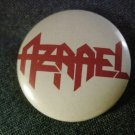 AZRAEL PINBACK BUTTON red logo VINTAGE