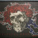 GRATEFUL DEAD sew-on PATCH skull & roses IMPORT