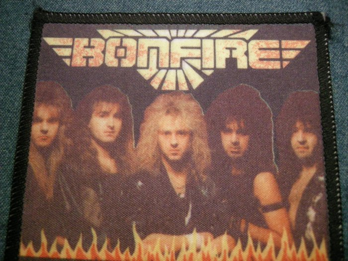 BONFIRE sew-on PATCH color band photo IMPORT