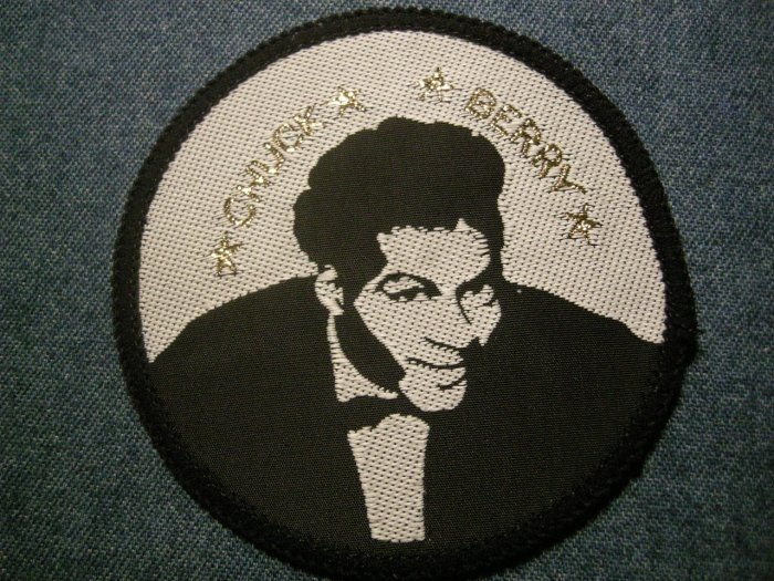 CHUCK BERRY sew-on PATCH round pic VINTAGE 80s!