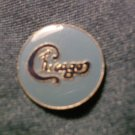 CHICAGO TACK PIN blue logo button VINTAGE