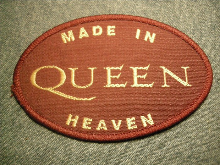 QUEEN sew-on PATCH Made in Heaven freddie mercury VINTAGE